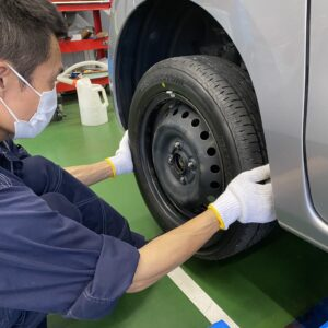 夏タイヤの空気圧の管理はつしまオートで、しっかりしましょう☆